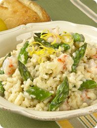 California Grown Asparagus Risotto with Shrimp and Lemon #CAgrown