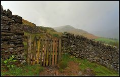 Gate & Dry Stone Wall above Glenridding, Cumbria England