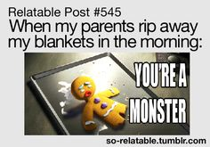 SO FUNNY...I bet this is how my kids feel.  They definitely have the same reaction.  ;)