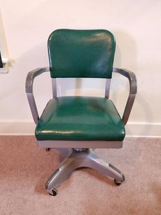 Vtg Mid Century Modern Propeller Tanker Desk Office Chair Industrial Steampunk