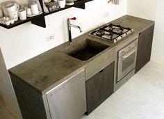Resultado de imagen para cocina de cemento pulido