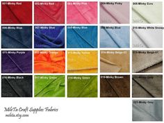 Minky fabric, ultra soft cuddly velboa microfiber smooth fabric, 21 colors to your choice.