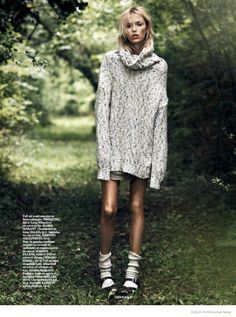 "Vogue Paris - ""Into the Wild"" Photographer: Lachlan Bailey Stylist: Geraldine Saglio Model: Anja Rubik"