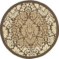 only 72  Indoor/ Outdoor Kaii Brown/ Natural Rug (6'7 Round)