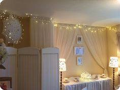 Fairy lights at Matilda HQ - the home of Miss Matilda's online boutique