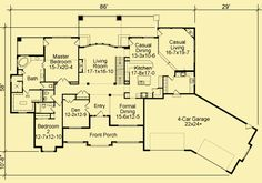 Architectural House Plans : Floor Plan Details : Wrap Around Views with walk out basement
