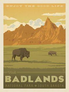 Anderson Design Group – American National Parks – Badlands National Park