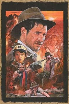 Indiana Jones and the Temple of Doom by Mark Raats Indiana Jones y el Templo de la Muerte por Mark Raats Henry Jones Jr, Indiana Jones Films, Tv Themes, Adventure Movies, Cinema, Movie Poster Art, Harrison Ford, Love Movie, Cultura Pop