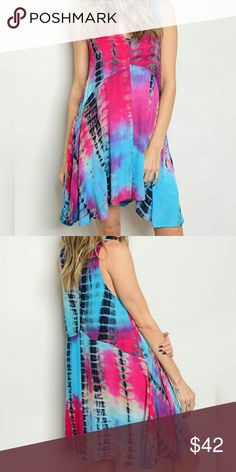 🍭GORGEOUS TIE DYE SUMMER DRESS🍭 SUPER CUTE TIE DYE FUCHSIA & TURQUOISE SUMMER DRESS! 100% Rayon Relaxed Fit Tunic Cut  🍭BUNDLE & SAVE🍭                                                         🍭OFFERS WELCOME🍭                                                   🚫NO LOWBALLS🚫 Dresses Midi