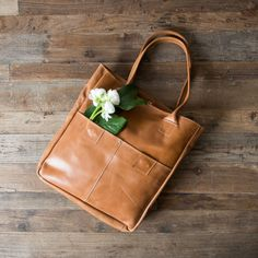 """Distressed Leather Tote - Magnolia Market 