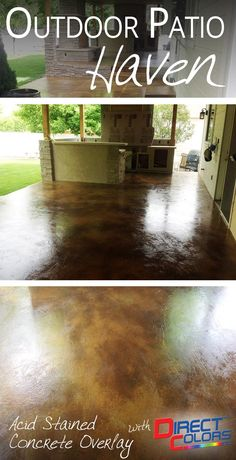 Make this your home look like this with Direct Colors Concrete Overlay and Acid Stain Products!