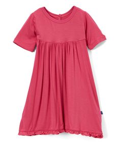 Love this Bubblegum Short-Sleeve Swing Dress - Infant, Toddler & Girls by KicKee Pants on #zulily! #zulilyfinds