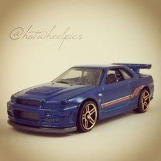 "#230 - Nissan Skyline GT-R (R34) - 2014 Hot Wheels HW Workshop ""Then & Now"" #hotwheels | #toys | #Nissan"