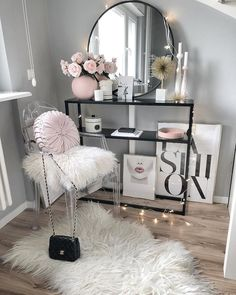 fashion, pink lips DIY Makeup Room Ideas, Organizer, Storage and Decorating Girl Room, Glam Bedroom, Room Decor, Decor, Bedroom Decor, Apartment Decor, Beauty Room, Cute Room Decor, Glam Room