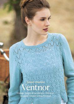 Короткий ажурный пуловер от дизайнера Сары Хаттон с нотой винтажности
