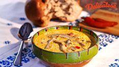 Ciorba de burta falsa Hummus, Bacon, Soup, Ethnic Recipes, Recipies, Soups, Pork Belly