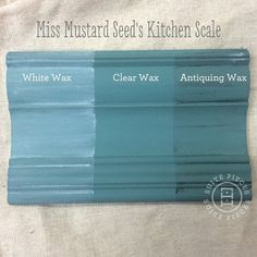 Miss Mustard Seed's Milk Pain in Kitchen Scale With Antiquing Wax, White Wax and Clear Wax! | Suite Pieces