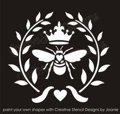 simple bee stencil - Google Search