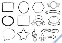 FREEBIE: Set of 15 vector Grunge Design Elements. *Free for personal & commercial use* !