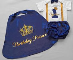Elite Little prince Personalised Baby boy Birthday Birthday dress up. by BuBBlingBoutique on Etsy First Birthday Outfits Boy, 1st Birthday Dresses, Baby Boy 1st Birthday, Birthday Ideas, Prince Birthday Party, Prince Party, Baby Prince, Royal Prince, Sandro