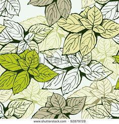 Leaf floral pattern