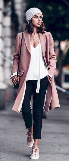 #fall #outfits  women's pink cardigan