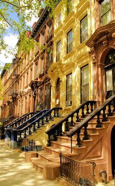 NYC. Harlem Brownstones