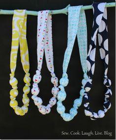 Fabric necklaces 2. Sew. Cook. Laugh. Live. Blog (583x800)