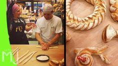Hoy cocino con...   PANES Y MOMENTOS DIVERTIDOS CON XAVIER BARRIGA - YouTube Croissants, Pizza Tarts, Bread Recipes, Cooking Recipes, Bread Shaping, Braided Bread, Types Of Bread, Pan Bread, Cooking Videos