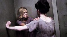 Frances Conroy & Jessica Lange as Shachath and Judy Martin in AHS Asylum.