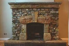 Fireplace from Re-purposed Materials