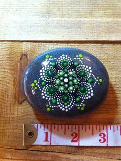 Heart chakra mandala stone