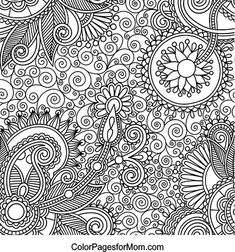 12 Images Of Paisley Elephant Coloring Pages