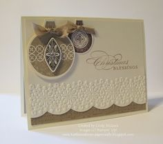 Stampin Up's ornament stap set and coordinating framelit dies---i STAMP by Nancy Riley