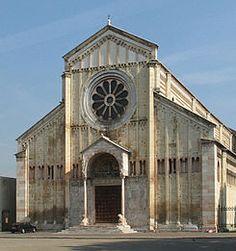 Romanesque architecture – Google Søk Romanesque Art, Romanesque Architecture, Roman Architecture, Ancient Architecture, Round Arch, Small Porches, Porch Columns, Verona Italy, 11th Century