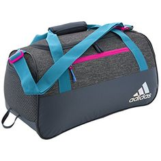 a818be2b256 Amazon.com  adidas Squad III Duffel Bag, One Size, Black Dot Punch  Emboss Black Haze Coral Reflective  Sports   Outdoors