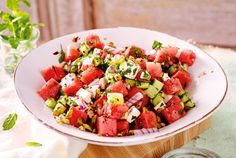 Our popular recipe for watermelon and cucumber salad with feta and more than other free recipes on LECKER. Our popular recipe for watermelon and cucumber salad with feta and more than other free recipes on LECKER. Grilling Recipes, Veggie Recipes, Pasta Recipes, Soup Recipes, Salad Recipes, Vegetarian Recipes, Healthy Recipes, Chicken Recipes, Drink Recipes