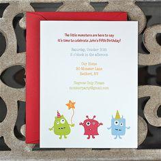 Monster Birthday Invitations . First by SweetBellaStationery, $18.00