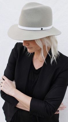 We're in the mood for hats this season with the latest from @rag_bone. Shop the just-out-of-the-box arrival, the Floppy Brim Fedora in Tan ($195.00) by calling 1.877.342.6474! #dianiboutique #ragandbone #hats #sbstyle at DIANI Boutique