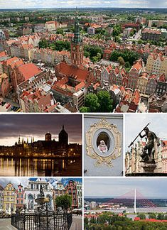 Collage of views of Gdansk. Polonia.