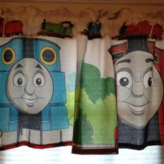 Thomas the Tank Engine Kids Valance  Extra by CheriesSewCrafty, $32.00