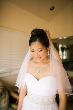 Mid-length bridal veil -- Anna Kim Photography