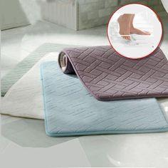 Honana WX-337 Thickened Coral Velvet Memory Foam Rug Bathroom Mat Soft Non-slip Plush Floor Carpet