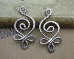 Unique BIG Earrings  Celtic Budding Spiral by nicholasandfelice, $18.00