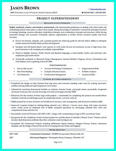 cool simple construction superintendent resume example to get applied check more at http resume examplesconstruction - Construction Superintendent Resume Templates