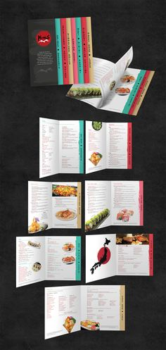 YamaS Fusion Sushi Menu Creative solution for a vast selection. Sushi Menu, Food Menu Design, Sushi Design, Creative Food, Portfolio Design, Branding, Graphic Design, Portfolio Design Layouts, Brand Management