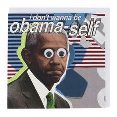 Obama-self card