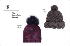 30 Winter Wardrobe Essentials For Every Budget #refinery29  http://www.refinery29.com/2014/10/76693/best-winter-clothes#slide18  18. The Pom-Pom Beanie Your head is going to get cold, that's a given. But, instead of reaching for your standard, run-of-the-mill beanie, go for one with a little more character with poofy pom-poms and in marled fabrics.