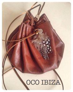 Small Leather Pouch. Made by OCO Ibiza.  http://www.oco-ibiza.com