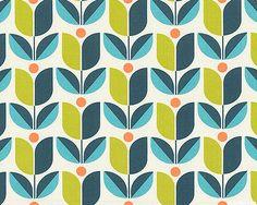 Flora - Tulip - Dk Teal Joel Dewberry